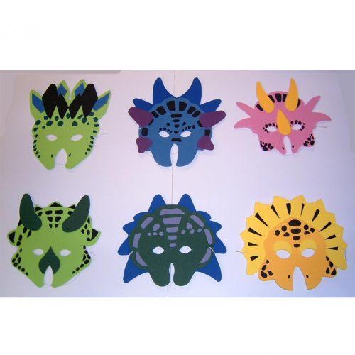 dinosaur foam masks.