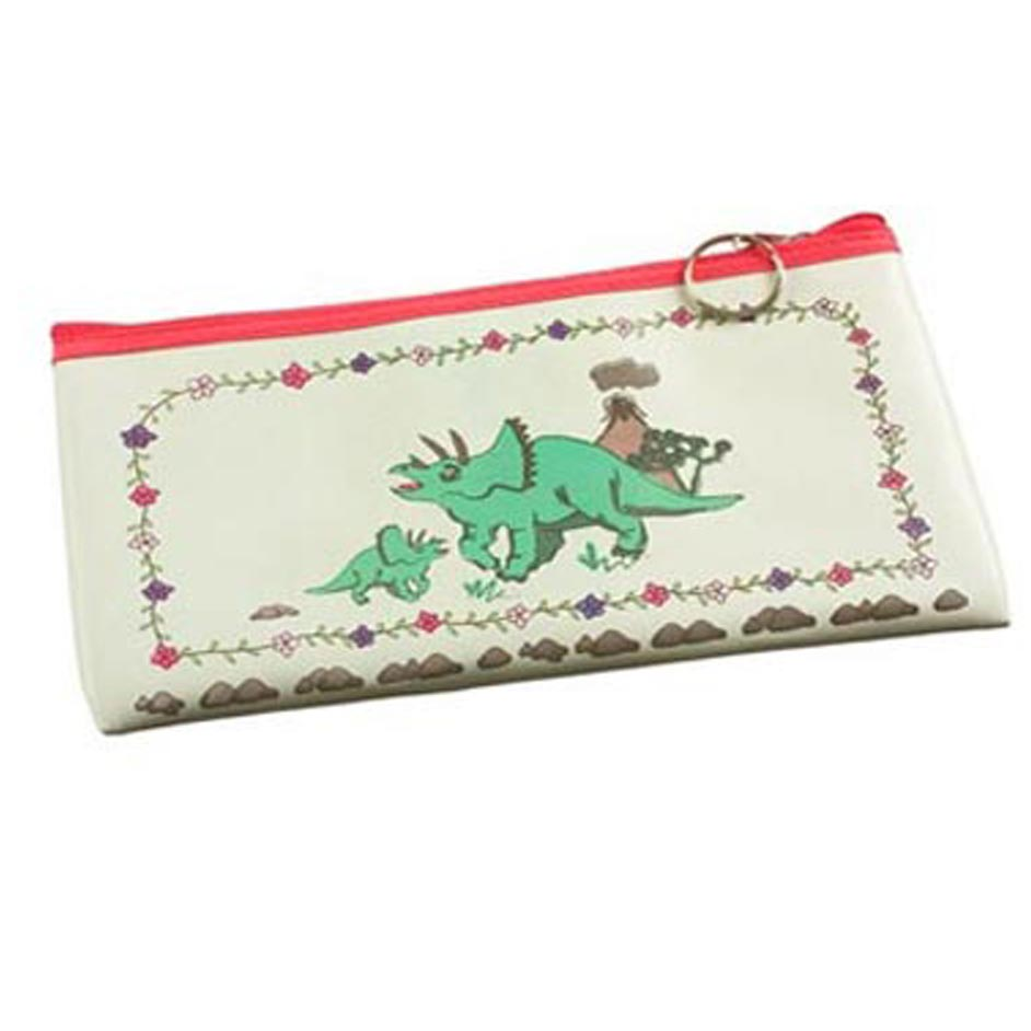 Dinosaur zipped pencil case.