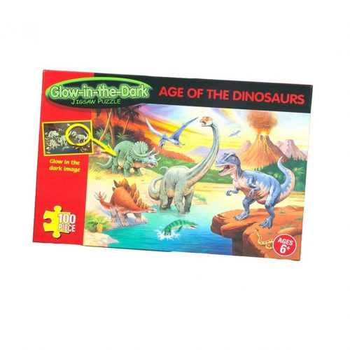 Age of dinosaurs glow in the dark jigsaw.