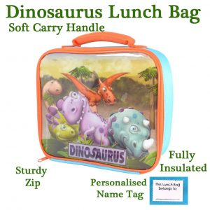 Dinosaur themed lunch bag.
