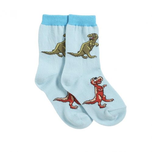 T. rex mum and baby socks (colour - ice blue).