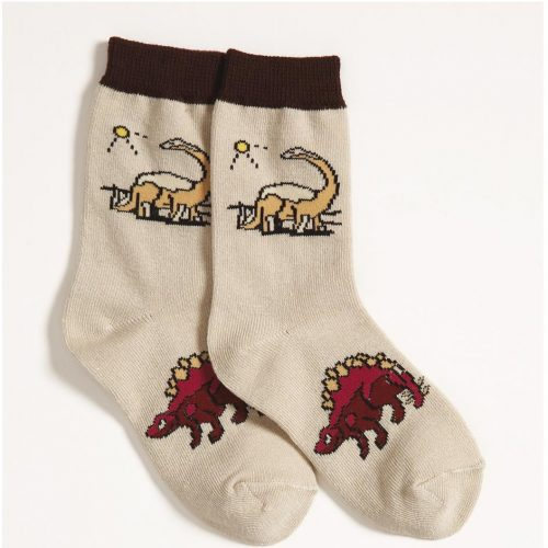 Diplodocus and Stegosaurus Dinosaur Socks