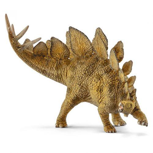 The Schleich Stegosaurus dinosaur model.