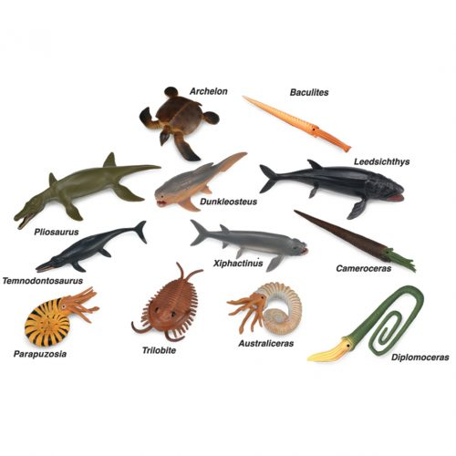 Twelve mini prehistoric marine animals from CollectA.