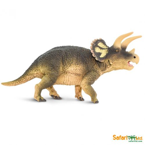 Wild Safari Prehistoric World Triceratops dinosaur model.