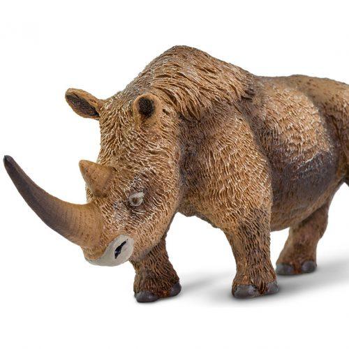 Wild Safari Prehistoric World Woolly Rhino prehistoric animal model.