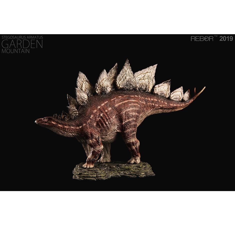 Rebor Stegosaurus garden mountain